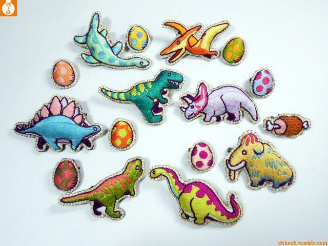 Apatosaurus Dinosaur Craft Sewing Novelty Buttons Set of 4 Brontosaurus