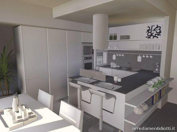 Mobili Diotti ~ Cucina angolare con penisola moderna dream diotti a f