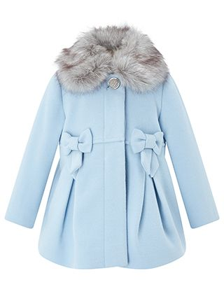 19dc01d38769 With its detachable faux fur collar and bow details