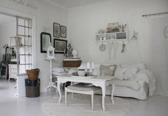Shabby chic deko wohnzimmer ideen dekoideen | Dekoideen | Pinterest ...