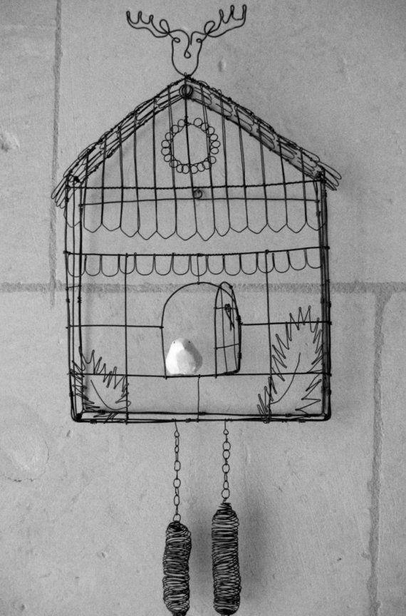 Bird Cage Adornos De Alambre Artesanias En Alambre Jaulas