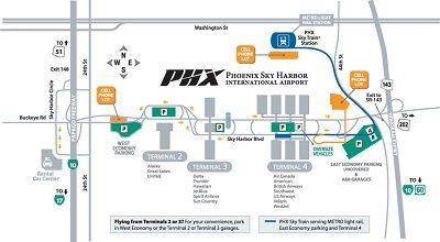 phoenix sky train map Phx Sky Harbor Airport Terminal Maps Food Shops Phoenix phoenix sky train map