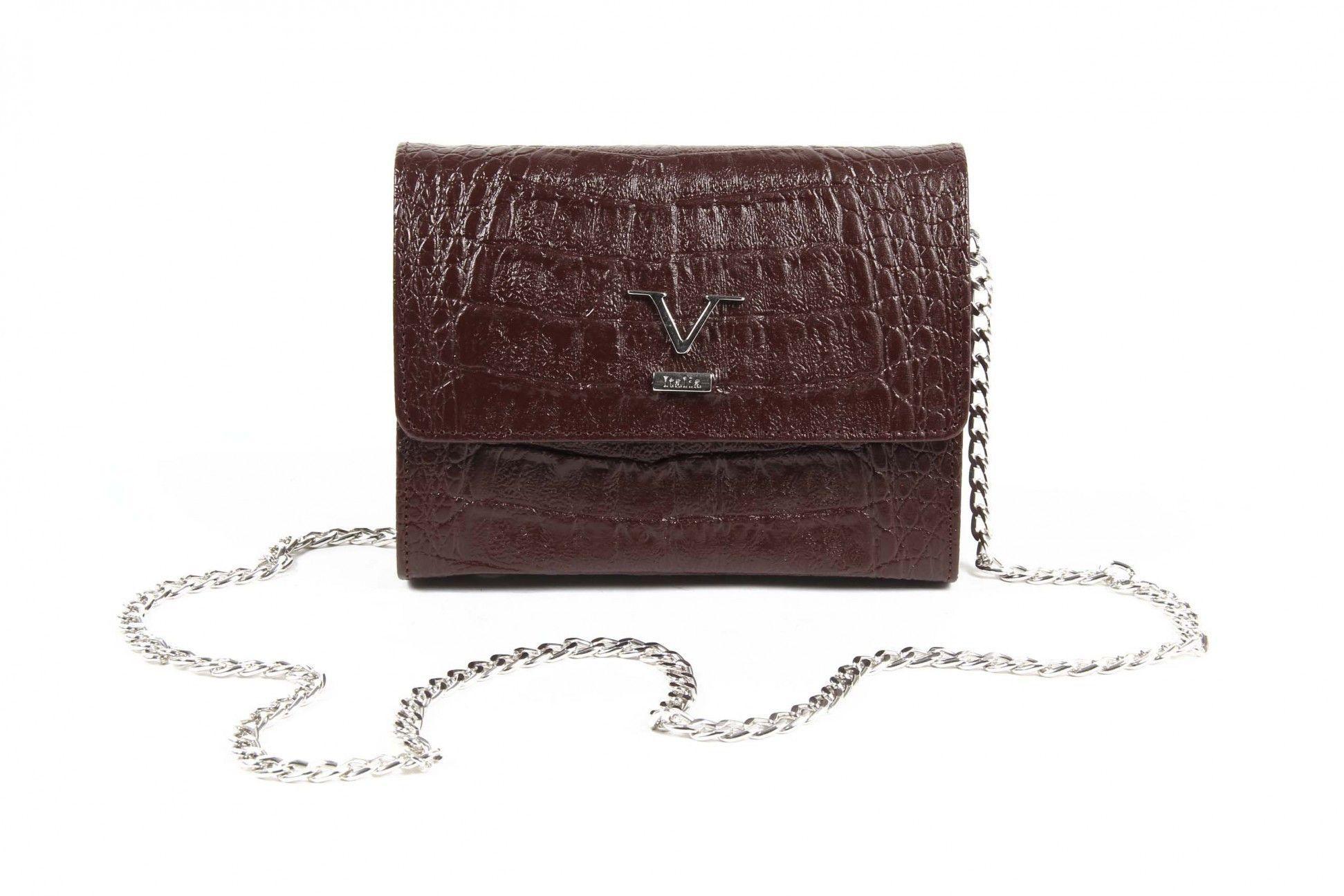 Versace 19.69 Abbigliamento Sportivo Srl Milano Italia Womens Handbag ARC04 PELAGIA COCCO BORDEAUX