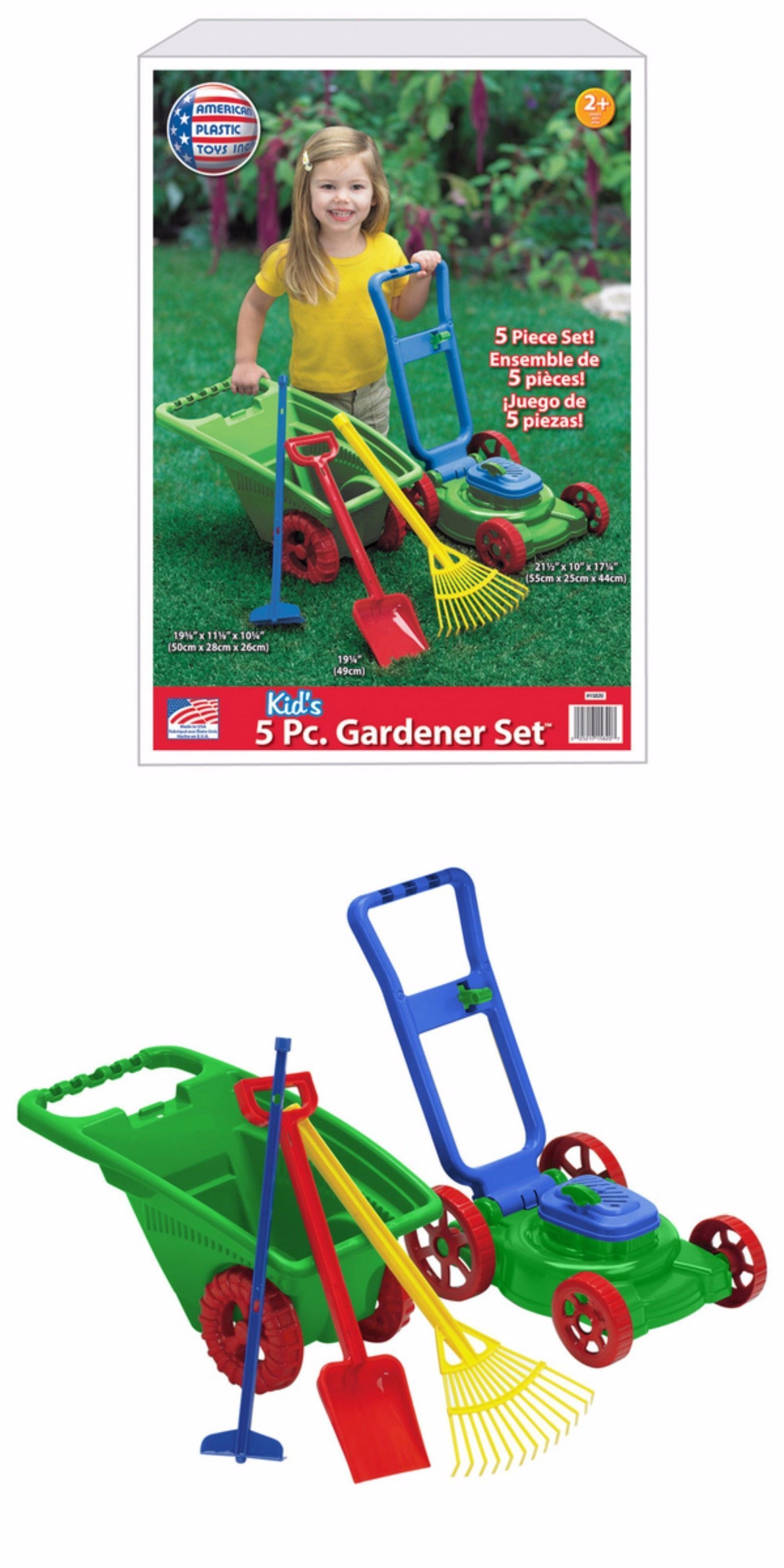 tool sets 158747 american plastic toys outdoor backyard game kids
