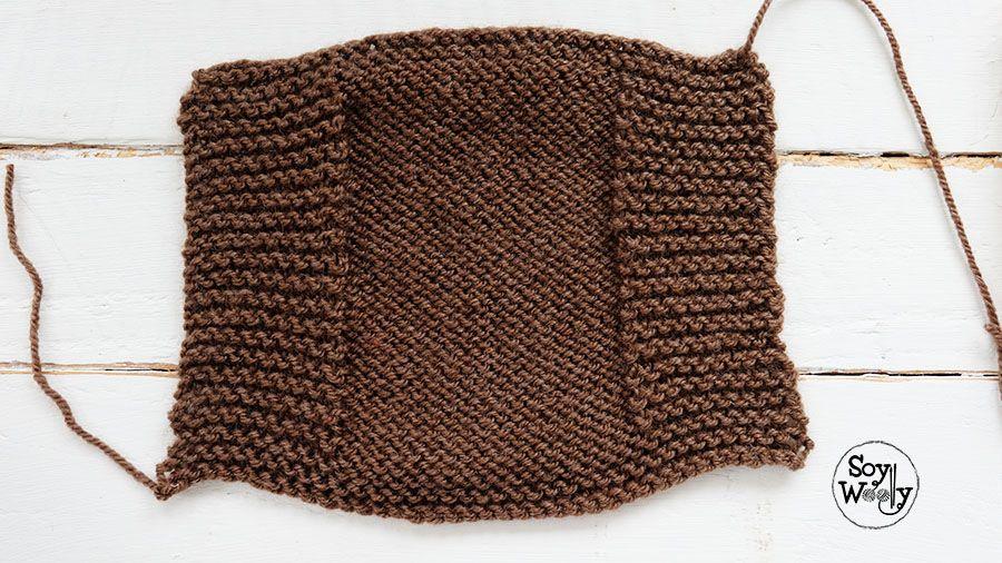 Mitones muy fáciles tejidos en dos agujas o palillos | Pinterest ...