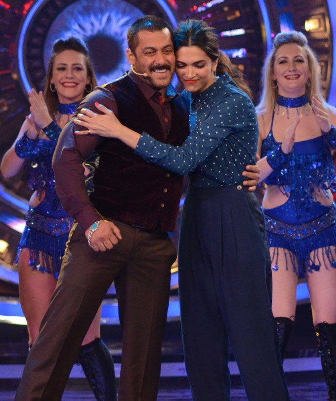 6 Salman Khan Deepika Padukone Moments On Bigg Boss 9 That Made Me Go Aww Salman Khan Deepika Padukone Khan
