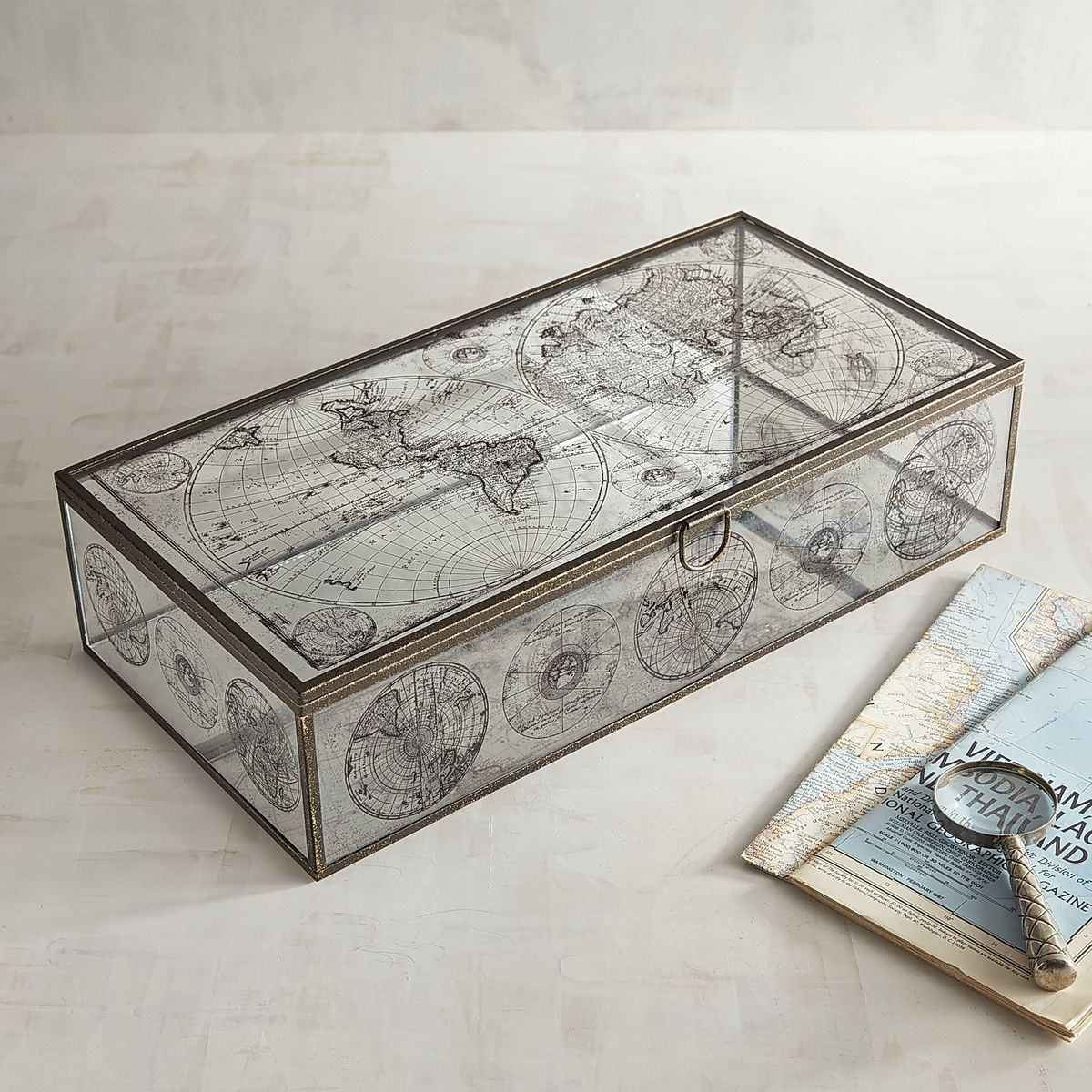 Antiqued world map glass boxes pier 1 imports box pinterest antiqued world map glass boxes pier 1 imports gumiabroncs Image collections