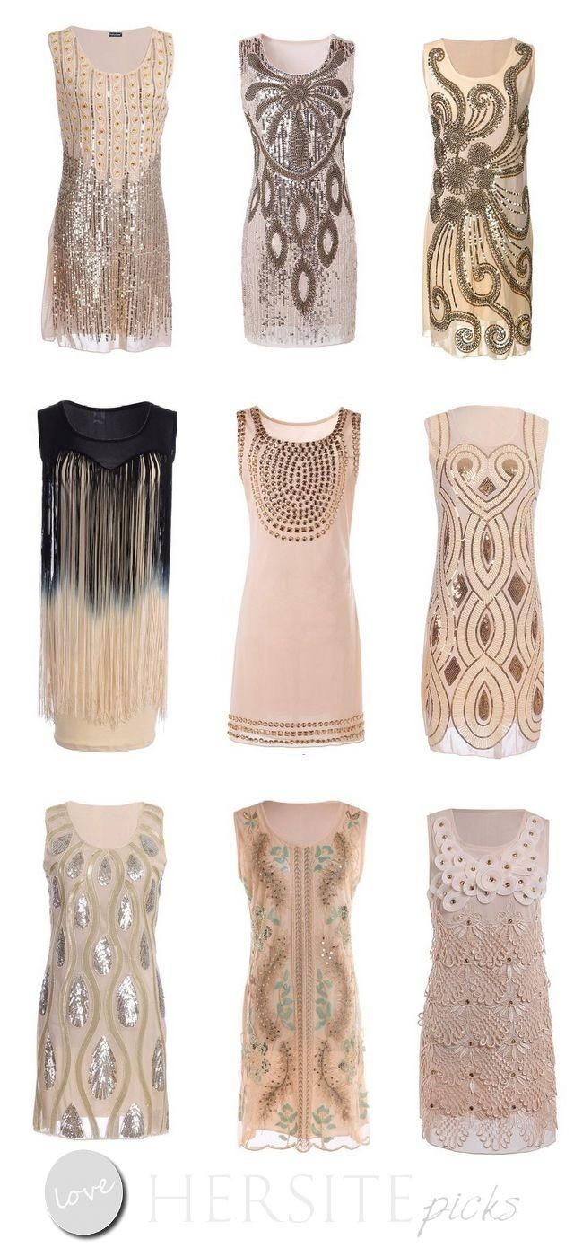15 gatsby style 1920s flapper dresses you can buy under 30 dollars art deco weddings. Black Bedroom Furniture Sets. Home Design Ideas