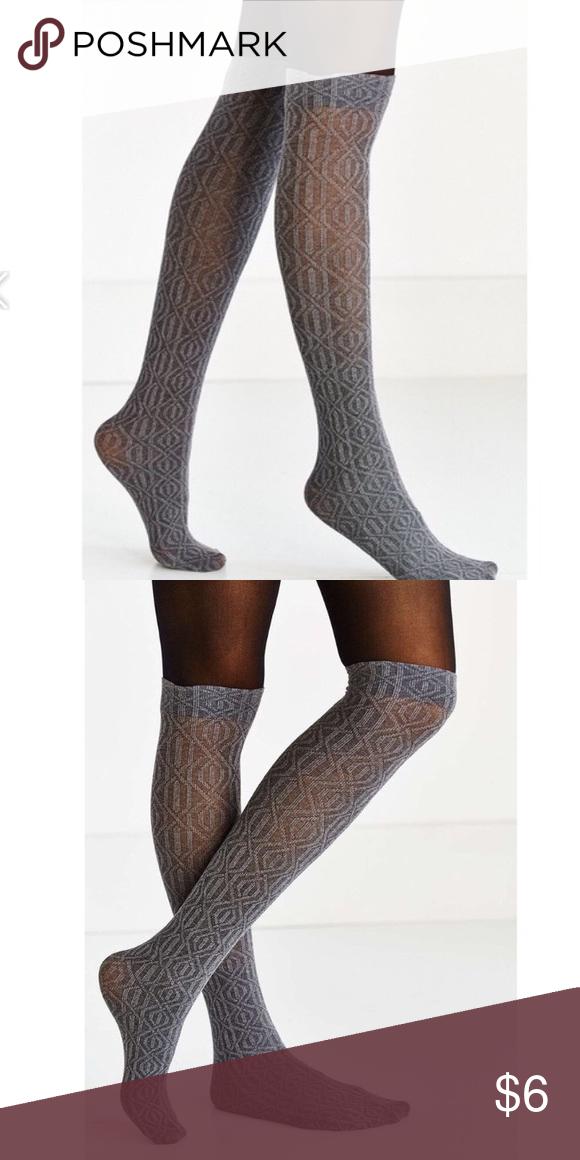 0d9c81a6427 Urban outfitters gray sweater socks Super cute gray sweater sock tights  Urban Outfitters Accessories Hosiery   Socks
