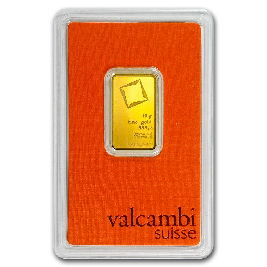 10 Gram Gold Bar Valcambi In Assay Gold Bar Gold 10 Things