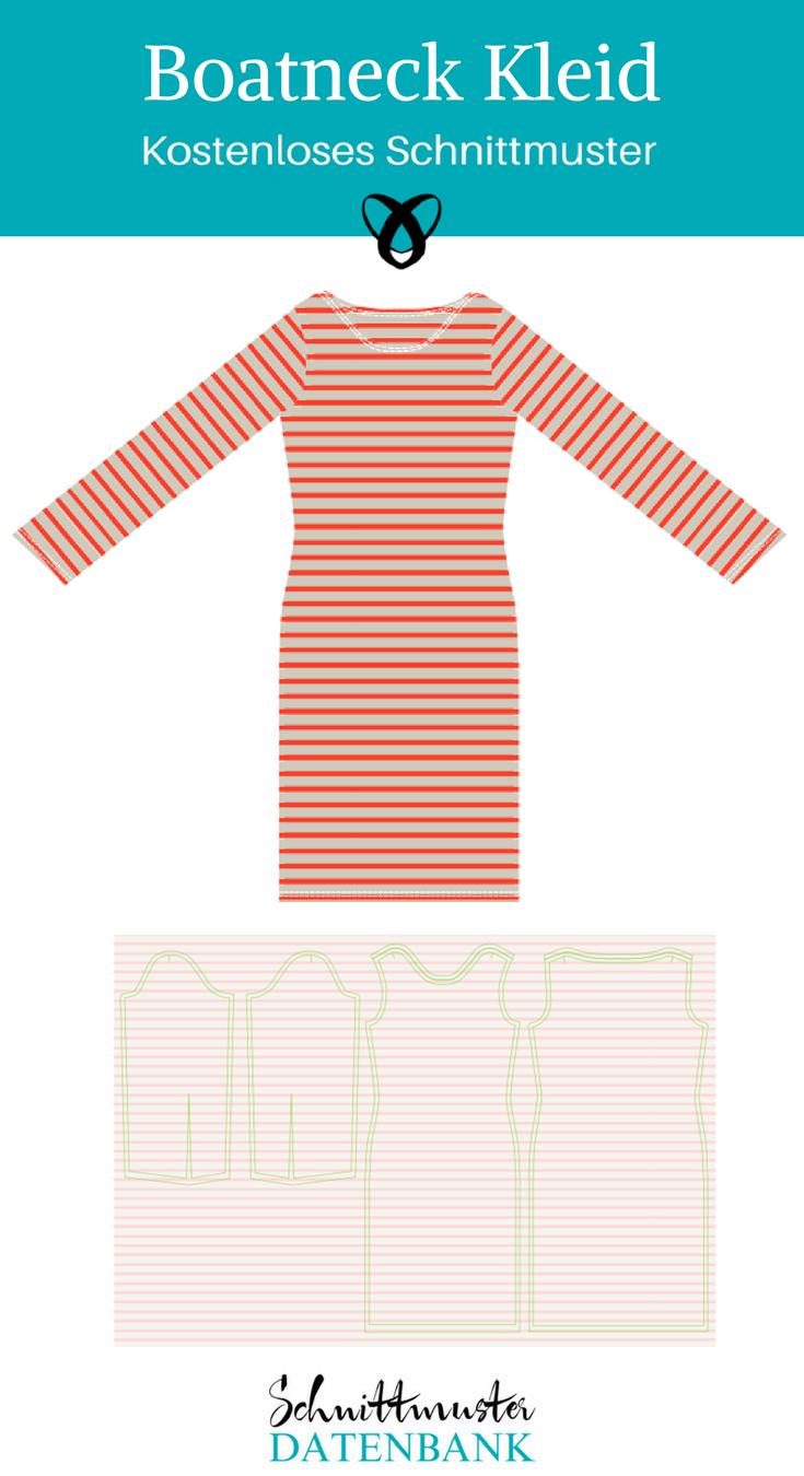 jerseykleid schnittmuster damen herbstkleid