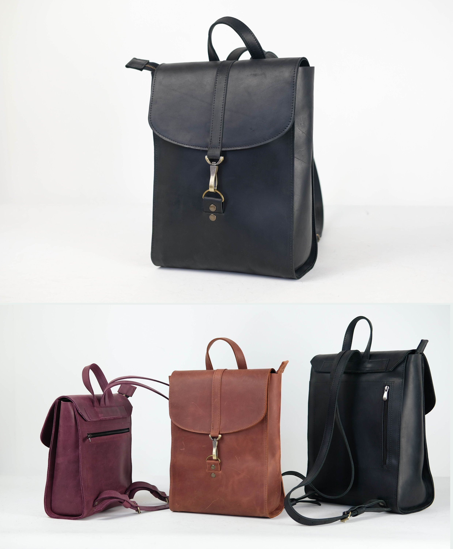 f6d26bfe616d Leather Backpack Travel Backpack Laptop backpack Mini