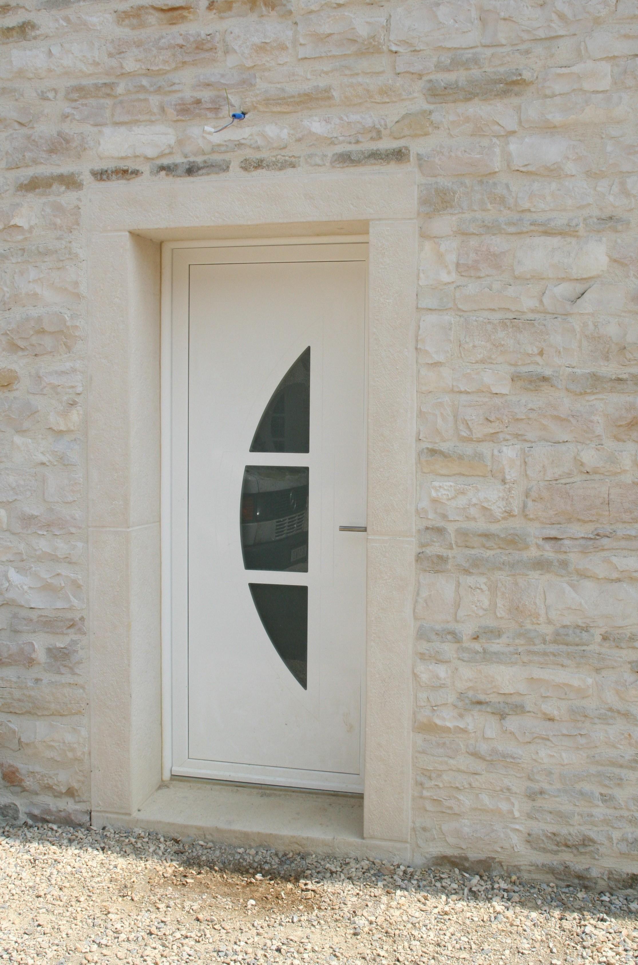 ordinaire Encadrement pierre reconstituée monobloc, porte du0027entrée 90 x 215 cm.  Rénovation des