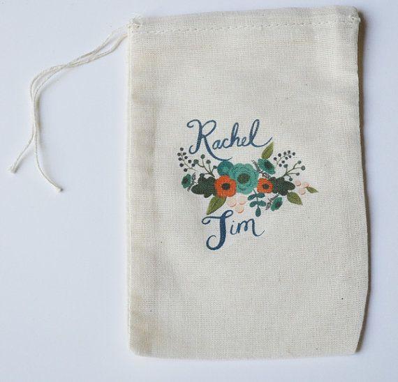custom wedding favor bags by loft life press #handmade #wedding