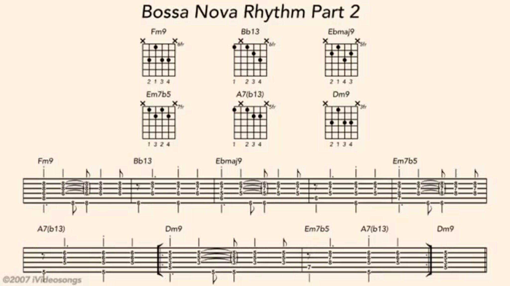 Bossa Nova 2 Guitar Pinterest Guitars Jazz And Guitar Chords