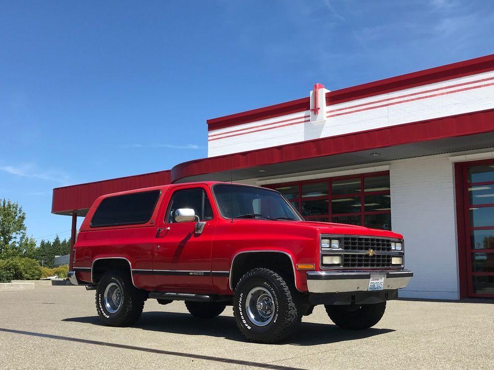 1990 Chevrolet Blazer K5 Blazer 4x4 Silverado Chevrolet