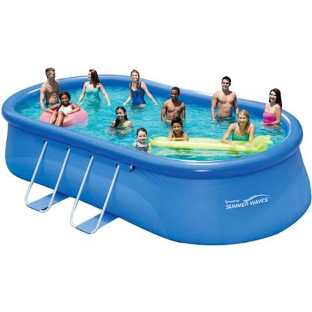 Summer Waves 20 X12 X48 Quick Set Oval Frame Swimming Pool Walmart Com Pool Summer Waves Above Ground Swimming Pools