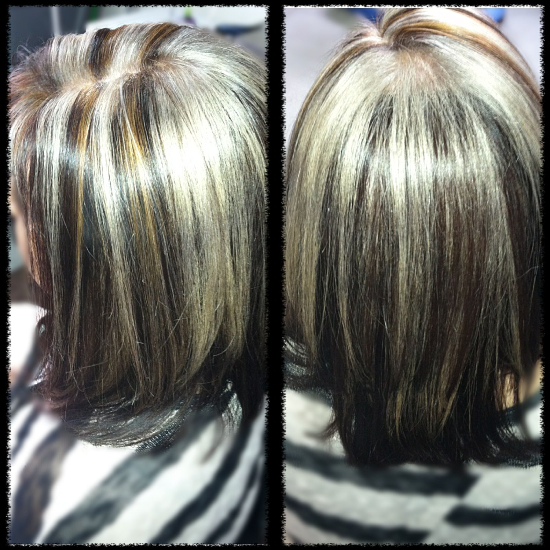 Deep Mocha Hair Color Platinum Blonde And Caramel Highlights Hair