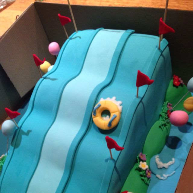 """Water slide cake from """"A Sweet Thing""""."""