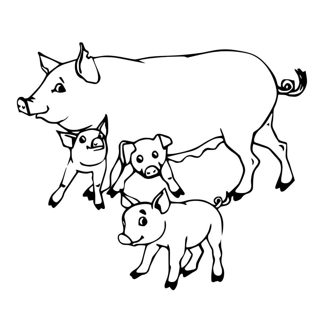 Pig Coloring Pages Animal coloring pages Coloring pages