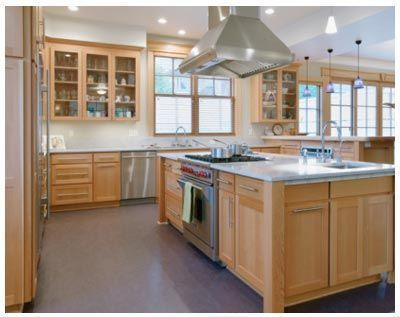 White Countertops with Maple Cabinets | maple with marble ... on Light Maple Cabinets With White Countertops  id=80353