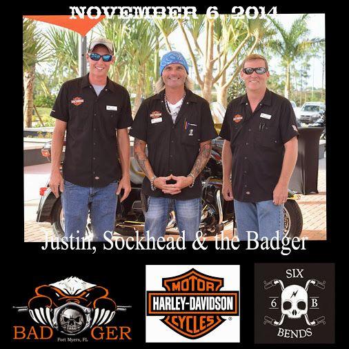 Sockhead Justin And Sonny The Badger At Six Bends Harley Davidson