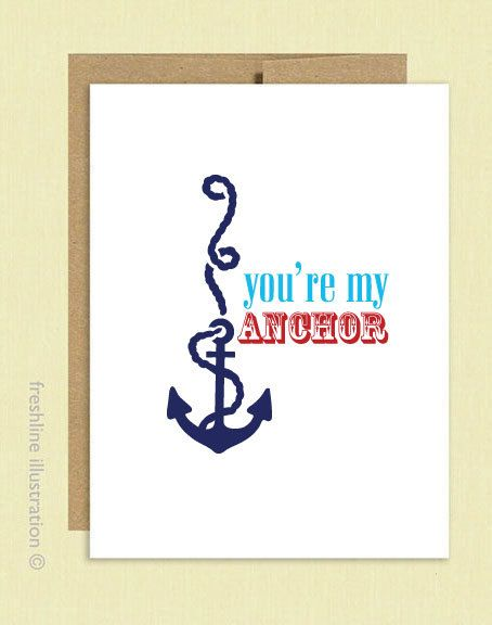fathers day card my anchor youre my anchor cute funny card