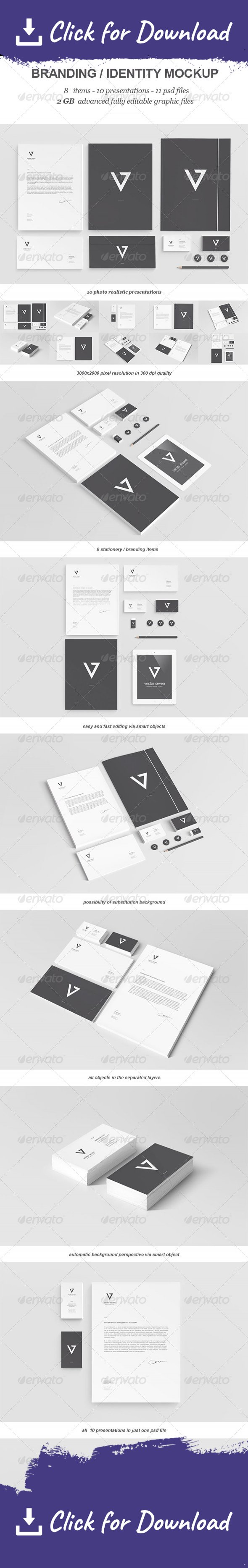 a4 branding briefcase business card corporate identity depth of