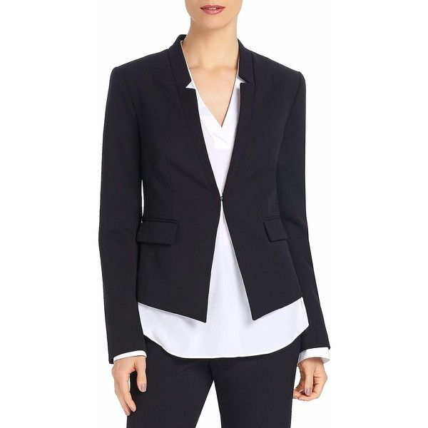 Ellen Tracy Fitted Collarless Blazer ($120) ❤ liked on Polyvore ...