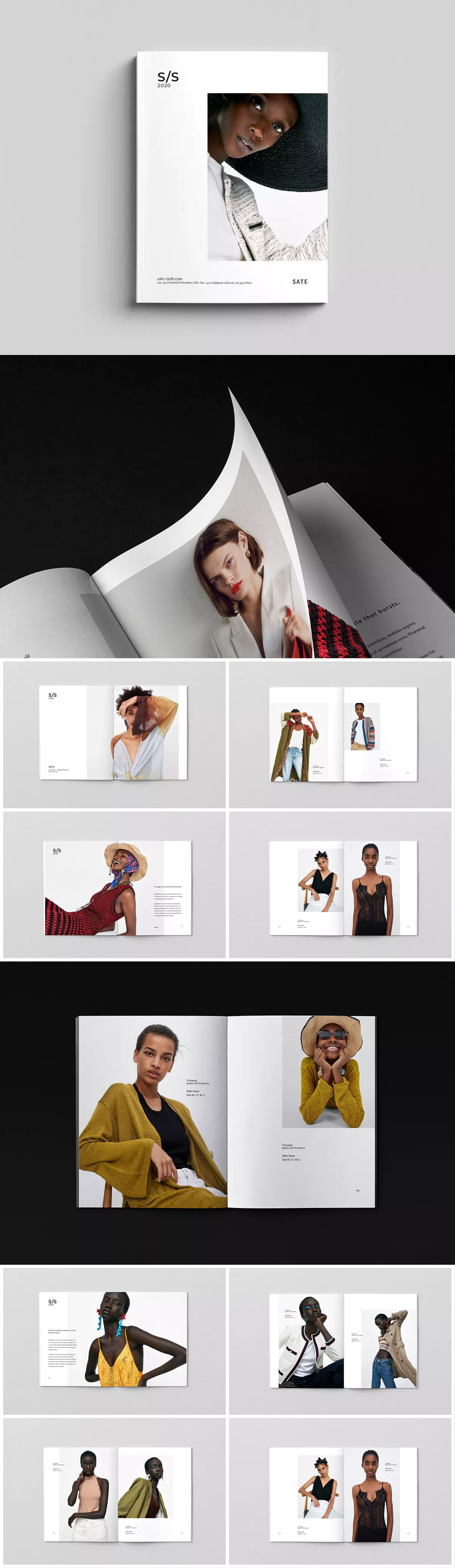 lookbook template indesign indd a4 us letter size lookbook