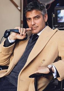 Layers + textures + colors + cut = style    Doesn't hurt to look like Clooney, either!