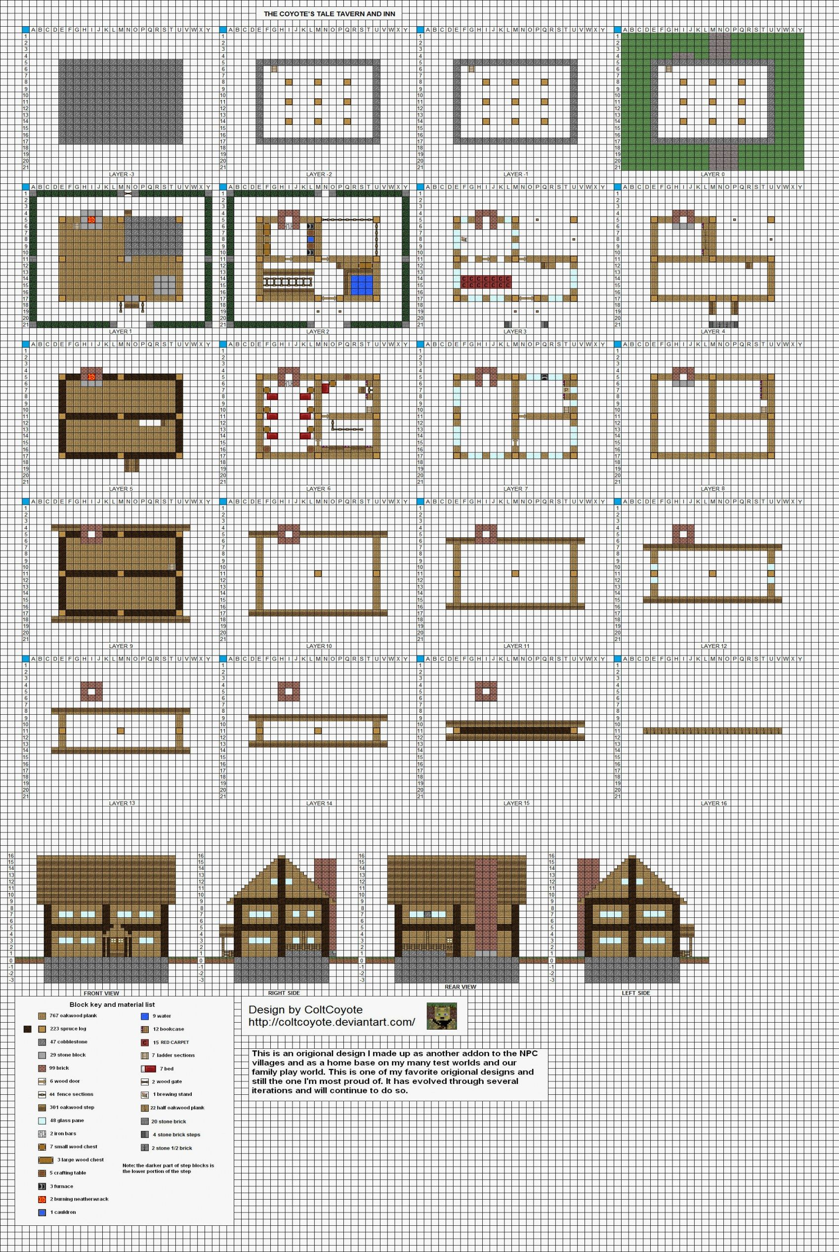 Awesome minecraft house ideas blueprints and review in
