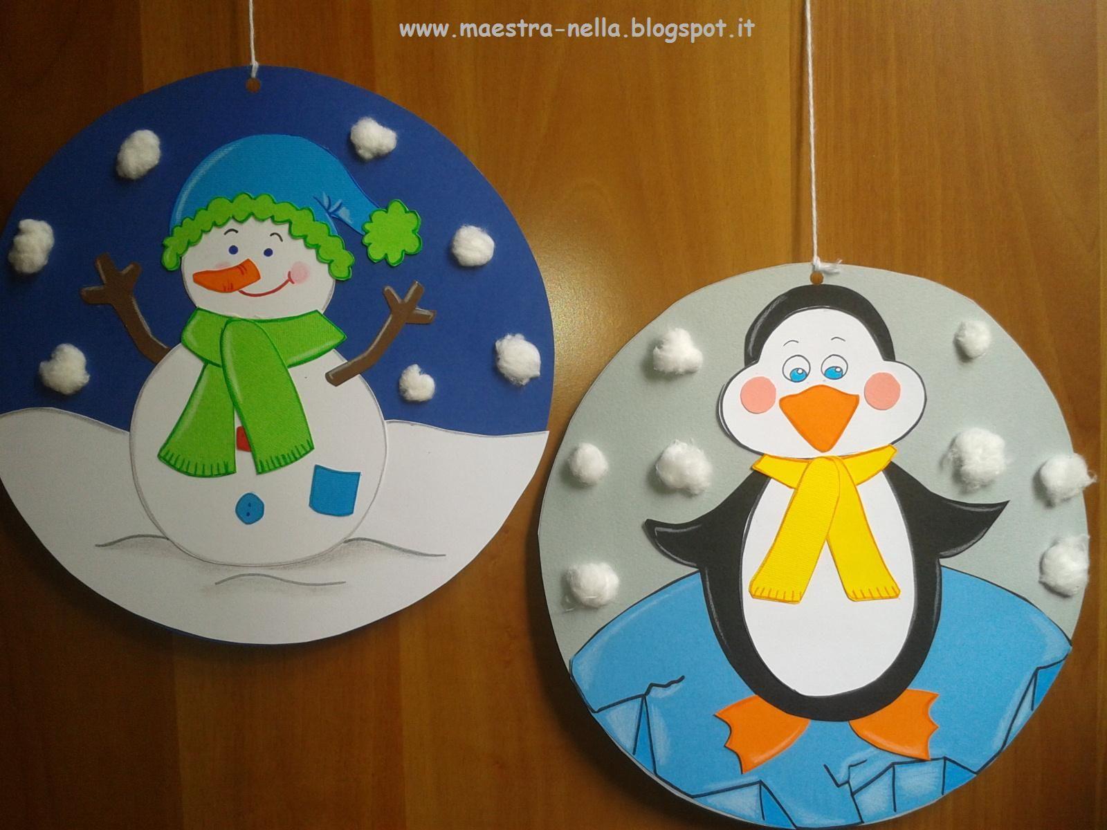 Maestra nella addobbi invernali lavoretti per bambini for Addobbi finestre natale scuola infanzia