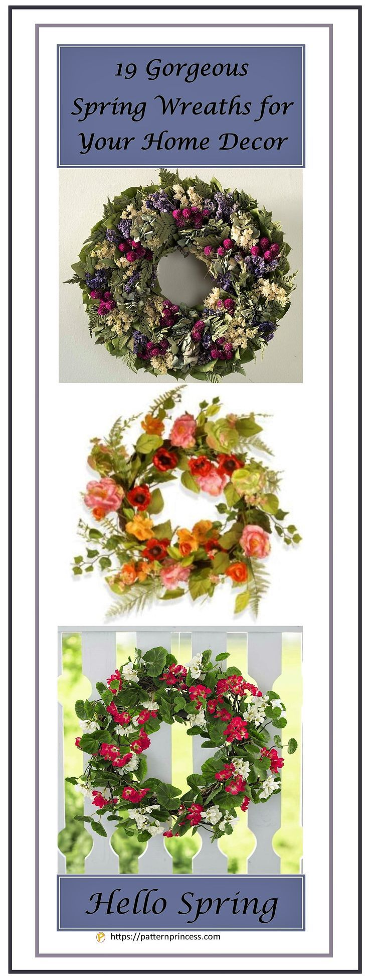 Gorgeous Spring Wreaths For Your Home Decor