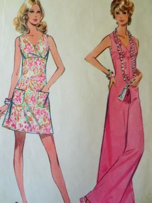 Vintage McCall's 2442 Sewing Pattern, 1970s Jumpsuit Pattern, Palazzo Pants, 1970s Dress Pattern, Bust 38, Surplice Bodice, Vintage Sewing by sewbettyanddot on Etsy by reva