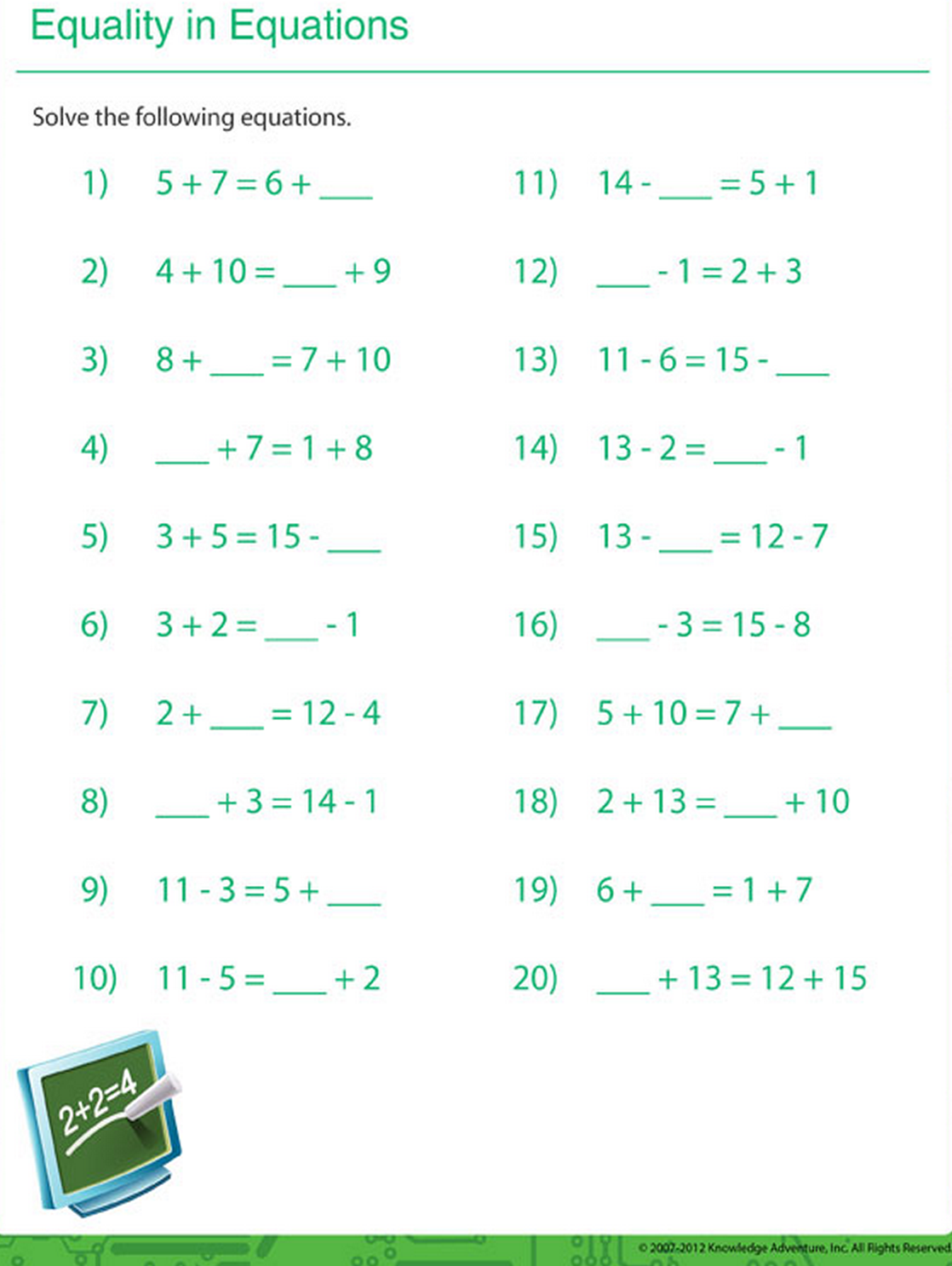 Solve these math equations.   Printable Math Sheets   Pinterest ...