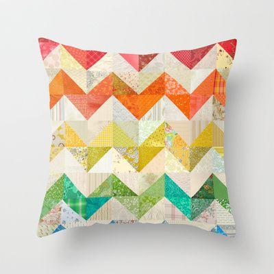 Throw Pillow Quilt Pattern : Chevron Rainbow Quilt Throw Pillow Rainbow quilt, Quilted throws and Throw pillows