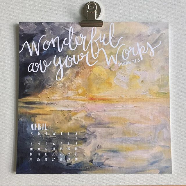 """""""""""It is good to give thanks to the Lord... to declare your steadfast love in the morning...at the works of your hands I sing for joy.  How WONDERFUL ARE YOUR WORKS, O Lord!"""" {Paraphrase of Psalm 92:1-5} #MessagesOfHope #SundayMorning #2016Calendar Link in profile to purchase ☝️"""" Photo taken by @artbyljd on Instagram, pinned via the InstaPin iOS App! http://www.instapinapp.com (10/11/2015)"""