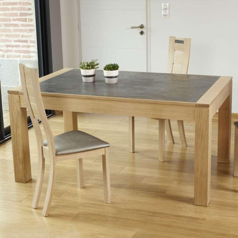 Table Contemporaine En Ceramique Et Bois Avec Allonges Made In France Mrc41 Table Contemporaine Table Salle A Manger Table En Ceramique
