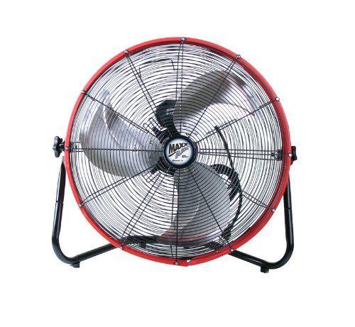Maxxair Hvff 20s Redups Shroud Floor Fan 20 Inch Red Floor Fan Floor Fans Fan
