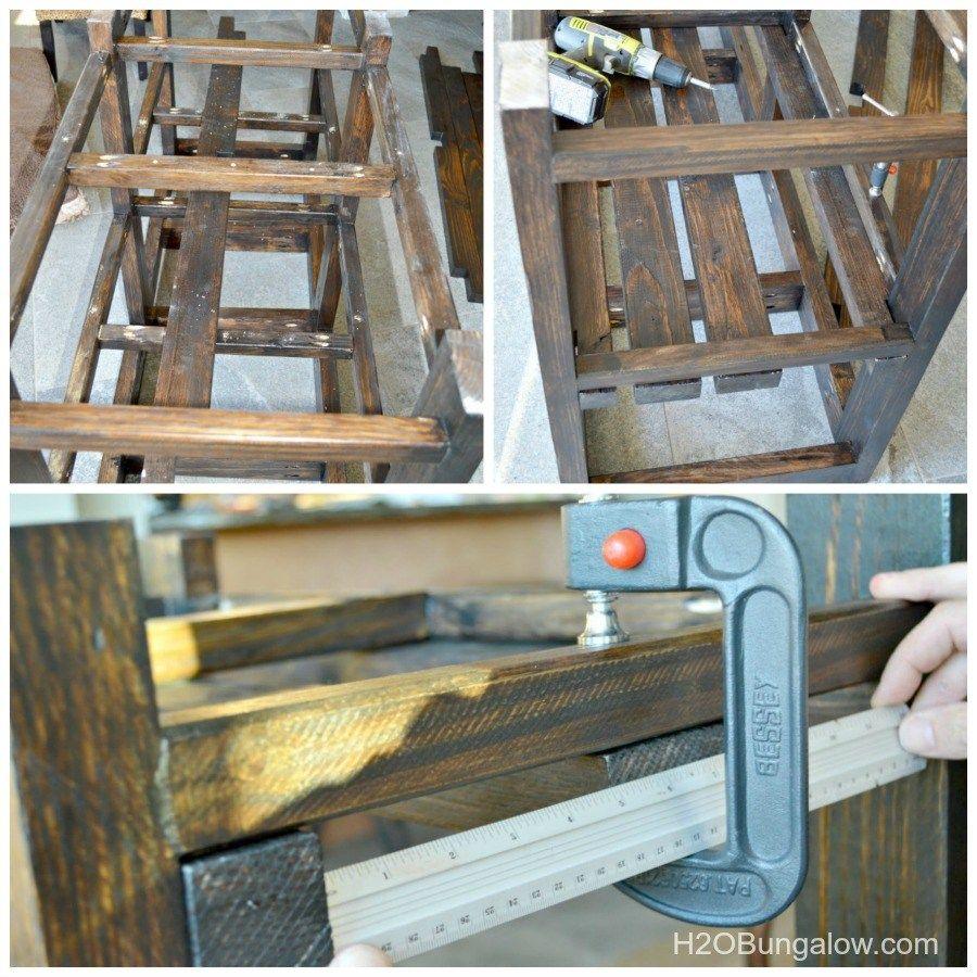 Tips for installing slats on diy open shelf