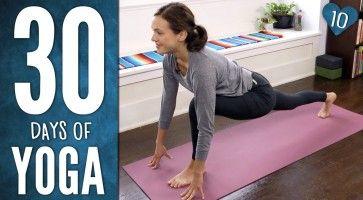 day 10 30 days of yoga with adriene  30 day yoga yoga