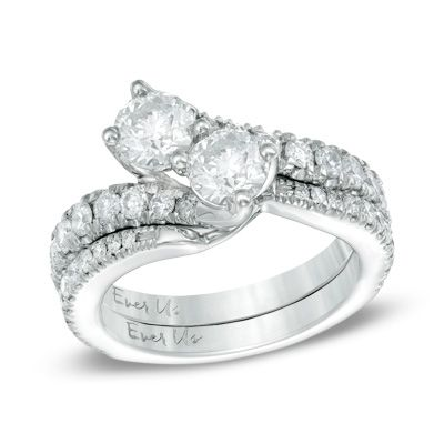 Ever Us 1 3 Ct T W Diamond Contour Band In 14k White Gold White Gold Diamond Bands 14k White Gold