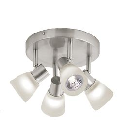 Style selections 4 light 787 in brushed nickel dimmable flush mount track lighting fixtures style selections 4 light 787 in brushed nickel dimmable flush mount fixed track mozeypictures Image collections
