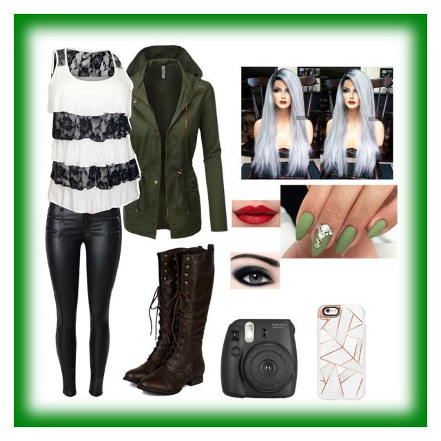 """""""Tina or Lora"""" by the-violet-flower on Polyvore featuring LE3NO, Fujifilm, Breckelle's and Casetify"""