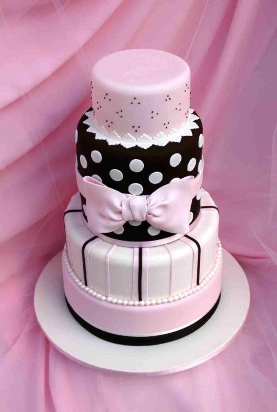 5 Tiered, Fondant Display Cake on Cake Central | Recipes | Pinterest ...