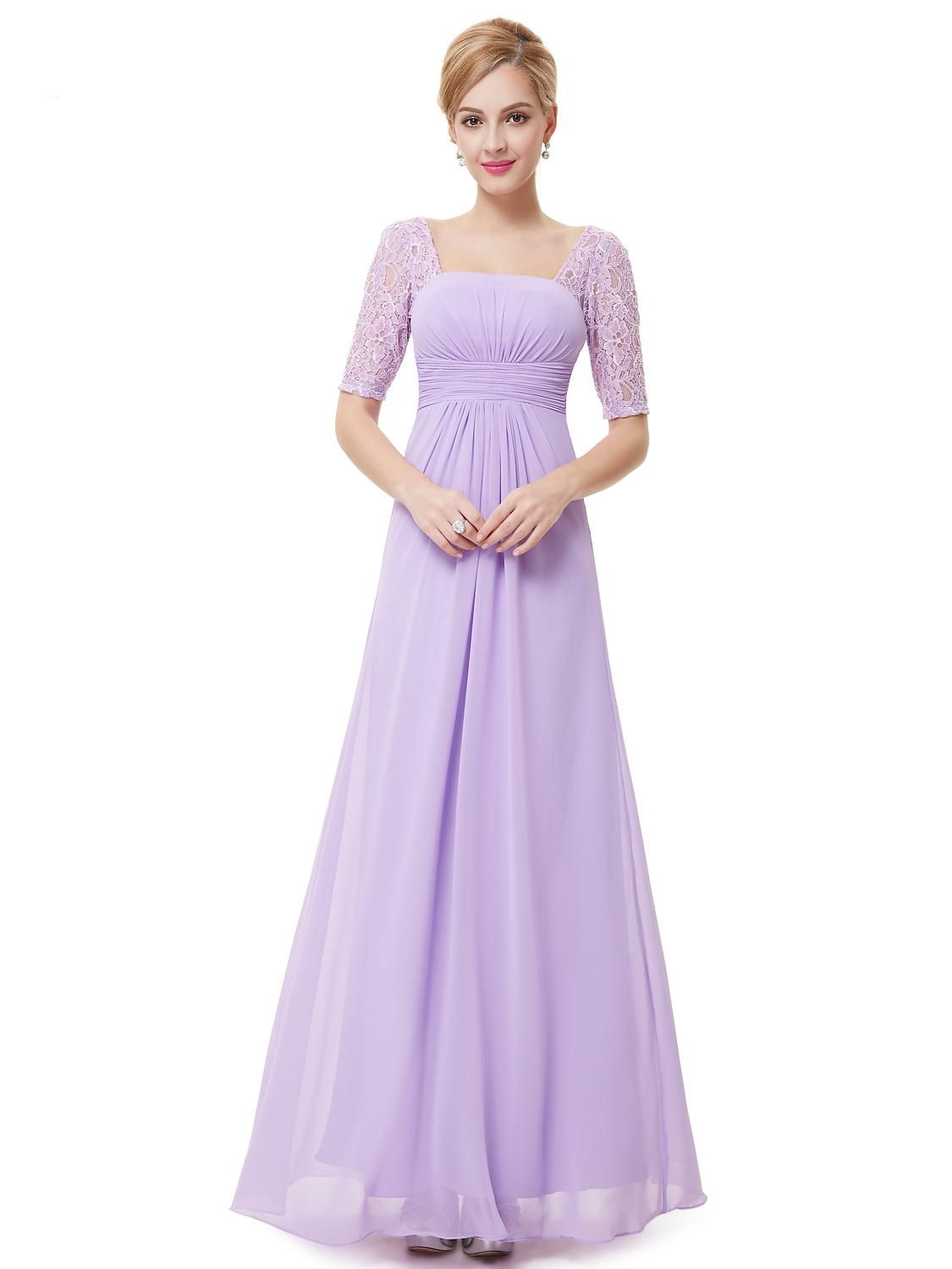 Sexy-Fashion-Lilac-Purple-Lace-Square-Neckline-Long-Prom-Evening ...