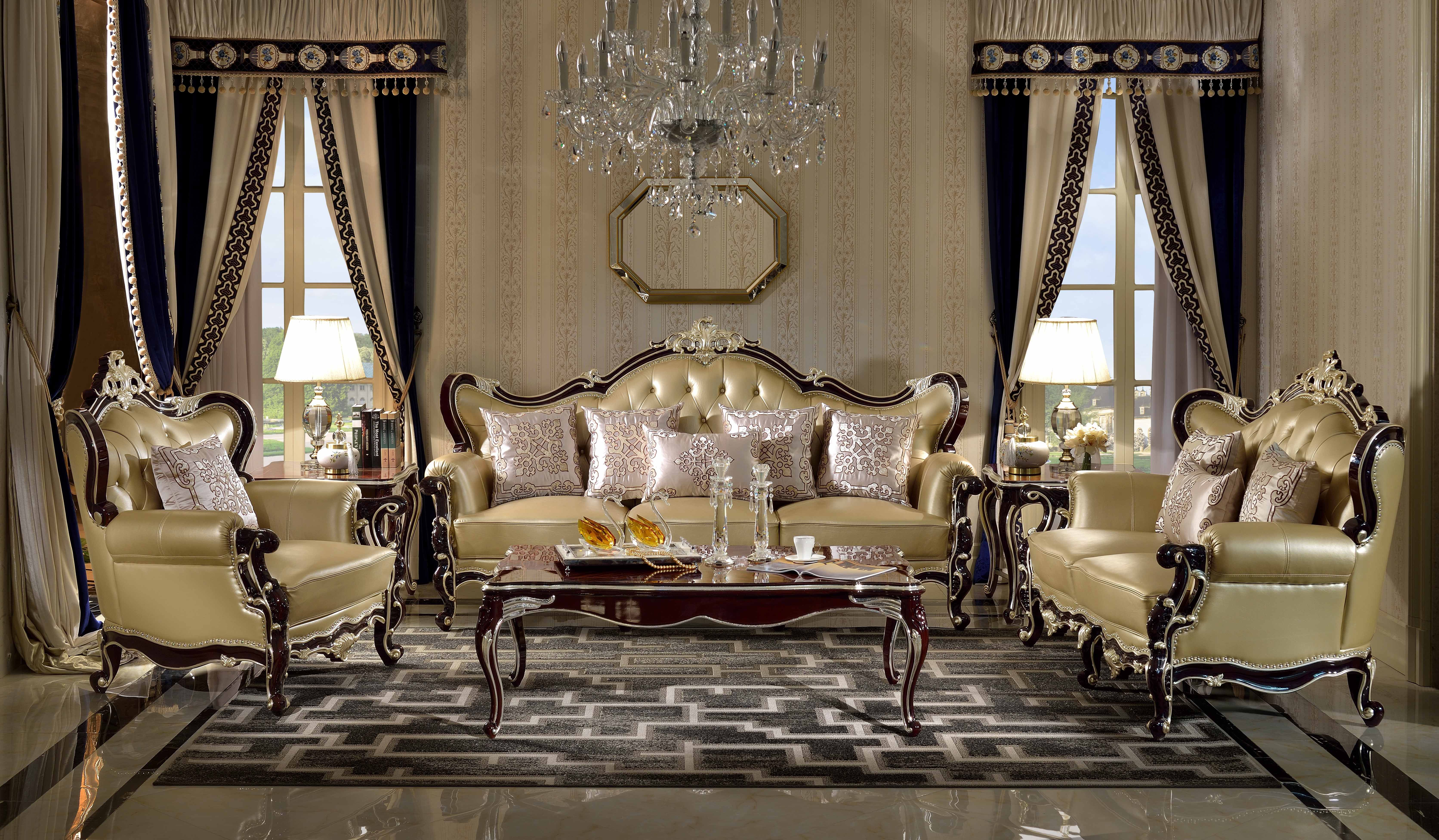 Ma Xiaoying Leather Sofas Antique Furnituresolid Wood Frame Glamorous Traditional Living Room Furniture Inspiration Design