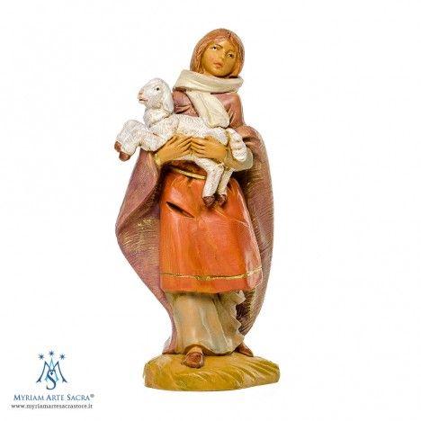 Pastorella con Pecora in Braccio Fontanini 12 cm. | Personaggi
