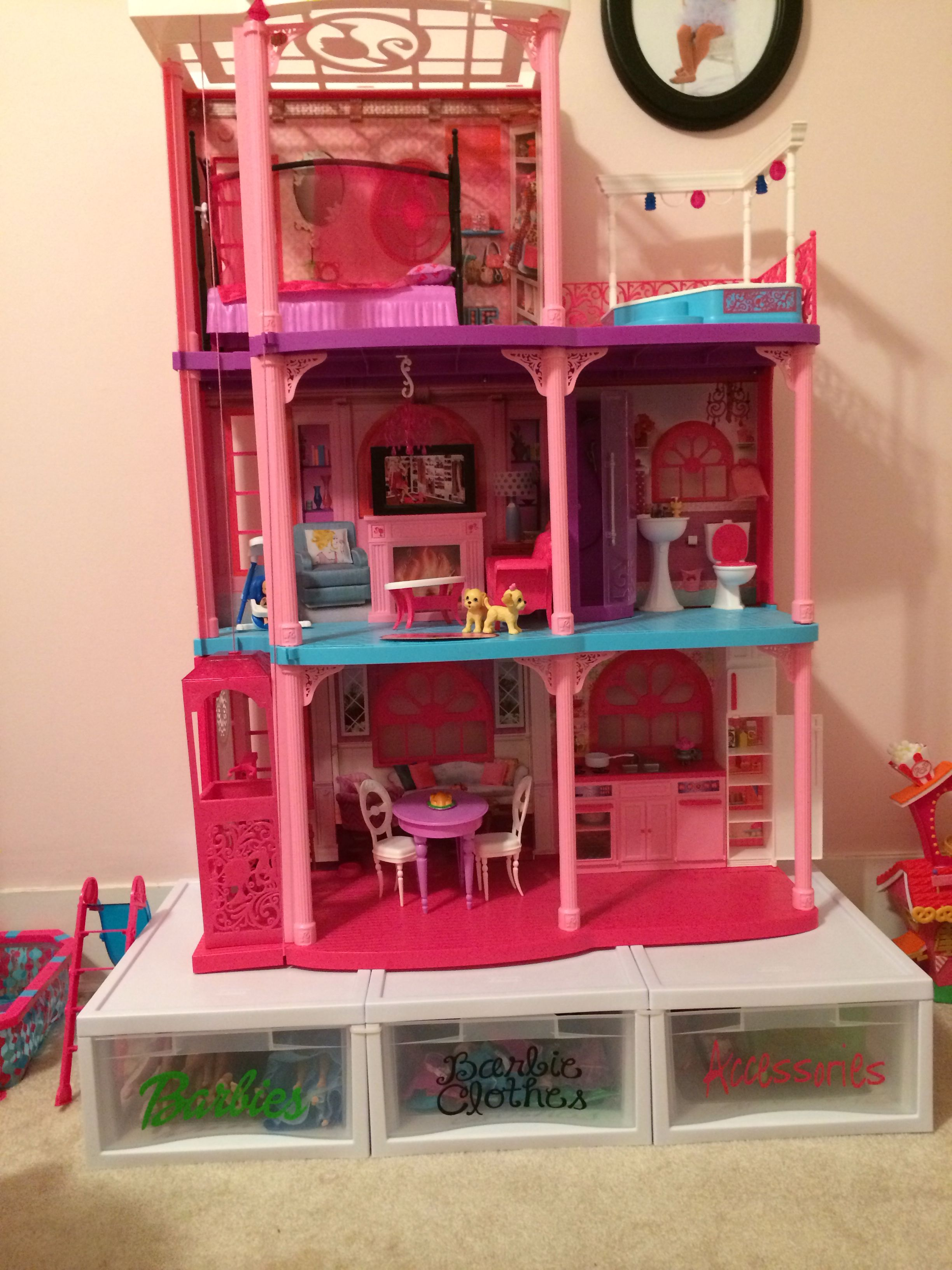 Barbie Bedroom In A Box: Barbie Storage And Organization: Wire Tie Boxes Together